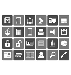 Flat Business and office icons vector image vector image