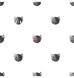 Flat cartoon dog heads with different vector
