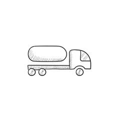 Fuel truck sketch icon vector image