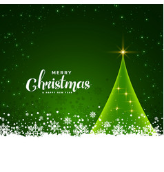 green christmas card design with snowflakes vector image