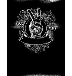 Grunge fist design vector image