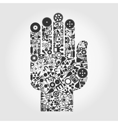 Hand a science vector image