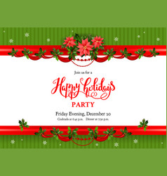 holiday floral poster vector image vector image