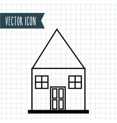 House drawn design vector