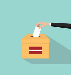 Latvia vote election concept with vector