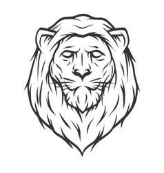 Lion head Line art style vector image