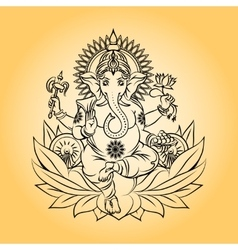 Lord ganesha indian god with elephant head vector image