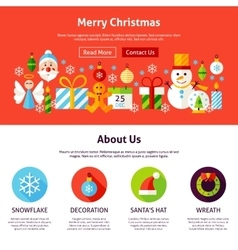 Merry christmas web design vector
