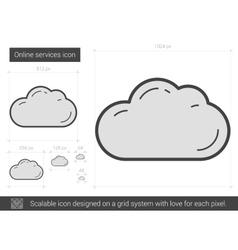 Online services line icon vector