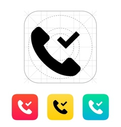 Phone call accept icon vector image vector image