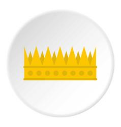 Regal crown icon circle vector