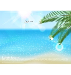 sea landscape with type design vector image vector image