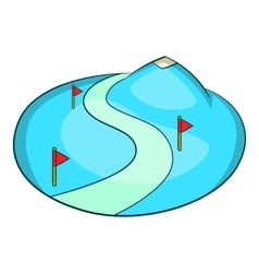 Ski slope of the snow mountain icon cartoon style vector image vector image