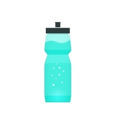 Sport bottle with blue water vector image vector image
