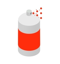 Spray paint bottle icon isometric 3d style vector image
