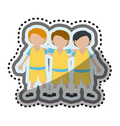 Team players characters icon vector