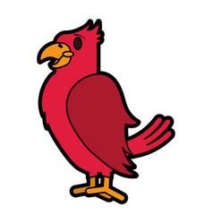 tropical bird icon image vector image
