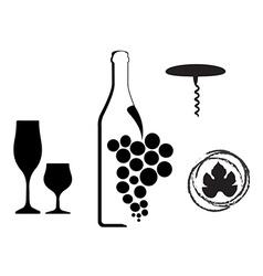 Wine type designs vector