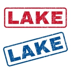 Lake rubber stamps vector