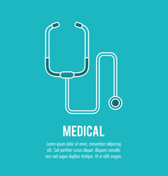 Stethoscope medical health care vector