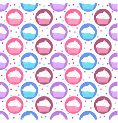 pattern of colorful cakes vector image