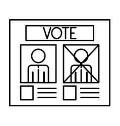 Isolated paper card of vote design vector