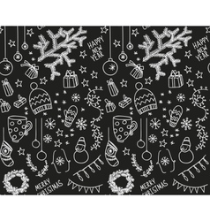 Sketchy doodle winter pattern vector