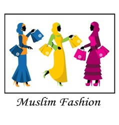 Muslim fashion vector