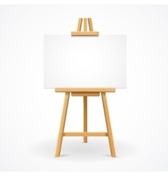Wooden easel template vector