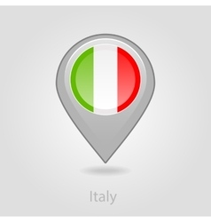 Italy flag pin map icon vector