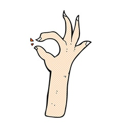 Comic cartoon most excellent hand gesture vector
