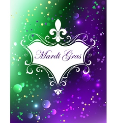 White Banner with Mardi Gras vector image