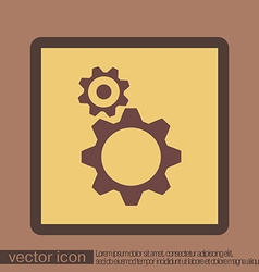 Cogwheel icon setting and repair symbol settings vector