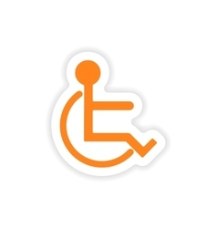 Icon sticker realistic design on paper disabled vector
