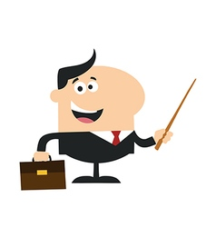 Businessman Holding a Pointer Cartoon vector image
