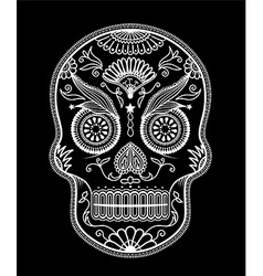 Sugar skull day of the dead vector
