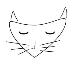 Sign face of cat 3607 vector