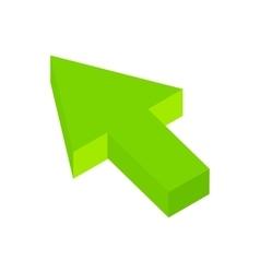 Arrow click isometric 3d icon vector image vector image