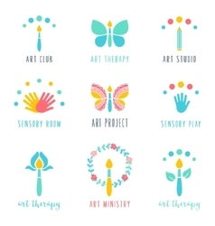 Art Class Studio and Projects Icons Art Therapy vector image