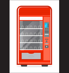Automatic vending machine icon vector