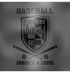 Baseball sport emblem dark vector