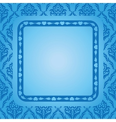 blue background with blue frame vector image vector image