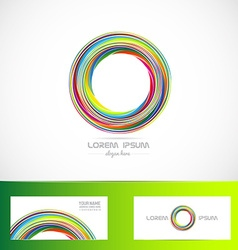 Business logo circle media it vector