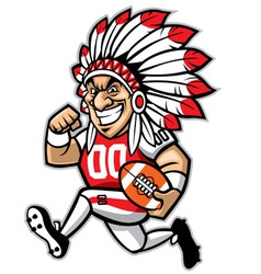 Chief american football mascot vector