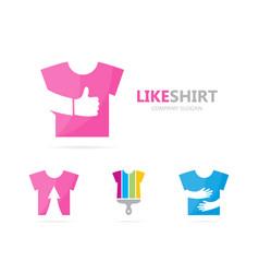 cloth and like logo combination shirt vector image