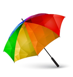 Colored umbrella made of polygonal effect vector image vector image
