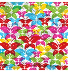 Colorful butterfly background vector image vector image