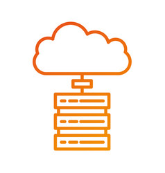 data base center server cloud computing connection vector image