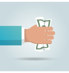 Dollar in hand poster vector image vector image