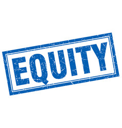 Equity square stamp vector